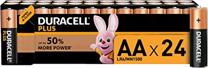 Duracell Plus Aa Mignon Alkaline Batterien Lr6 24er Elektronik