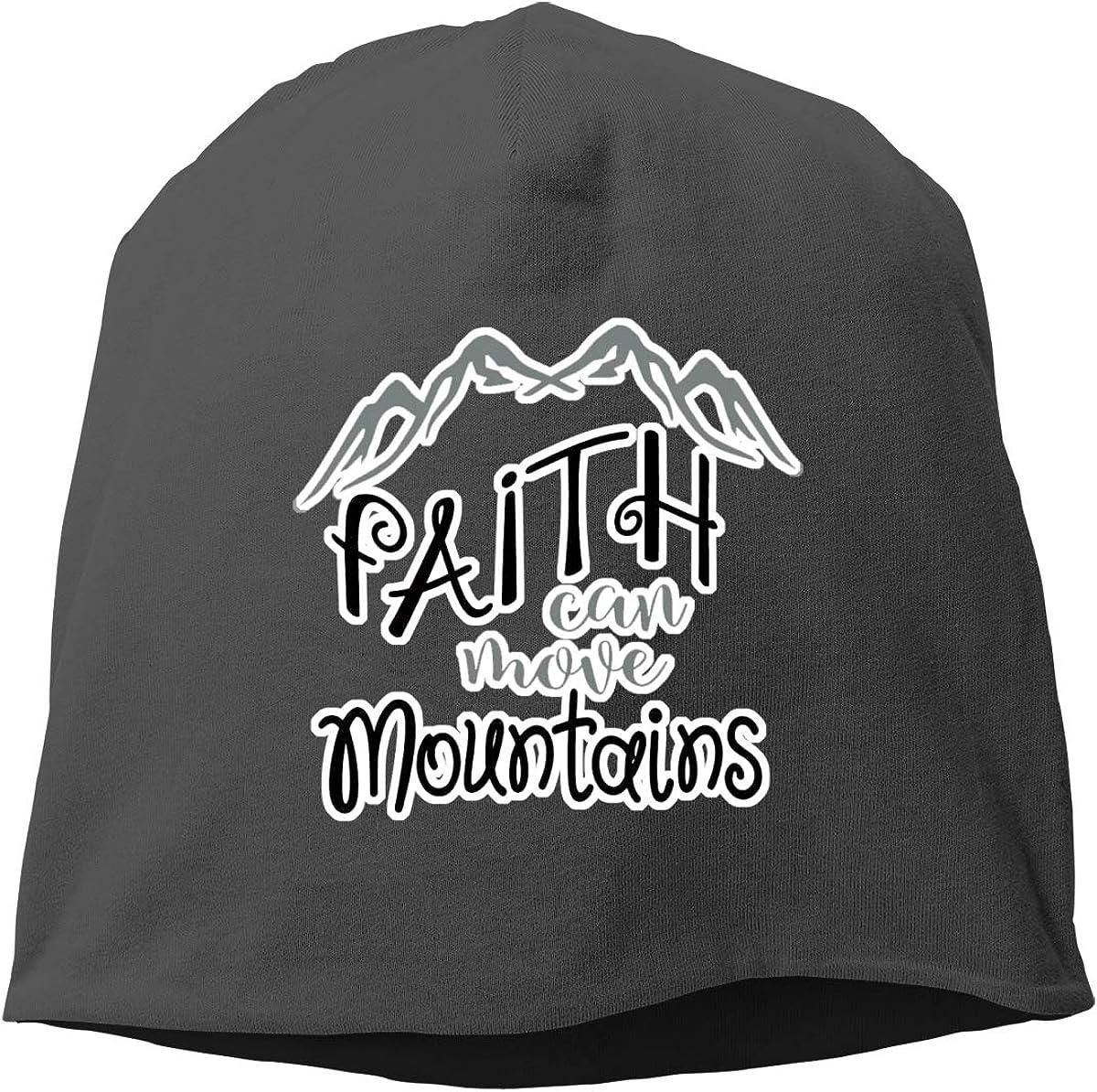 Faith Can Move Mountains Skull Cap Helmet Liner Beanie Cap for Men Hip Hop Hedging Head Hat