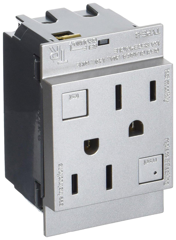 legrand Adone AGFTR2152M4 15 Amp Magnesium Tamper Resistant GFCI Outlet 4 Pack