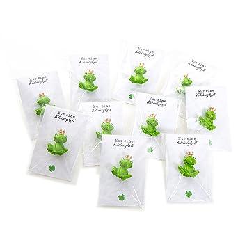 10 Kleine Grune Froschkonig Frosch Figuren 3 Cm Mit Mini Grusskarte
