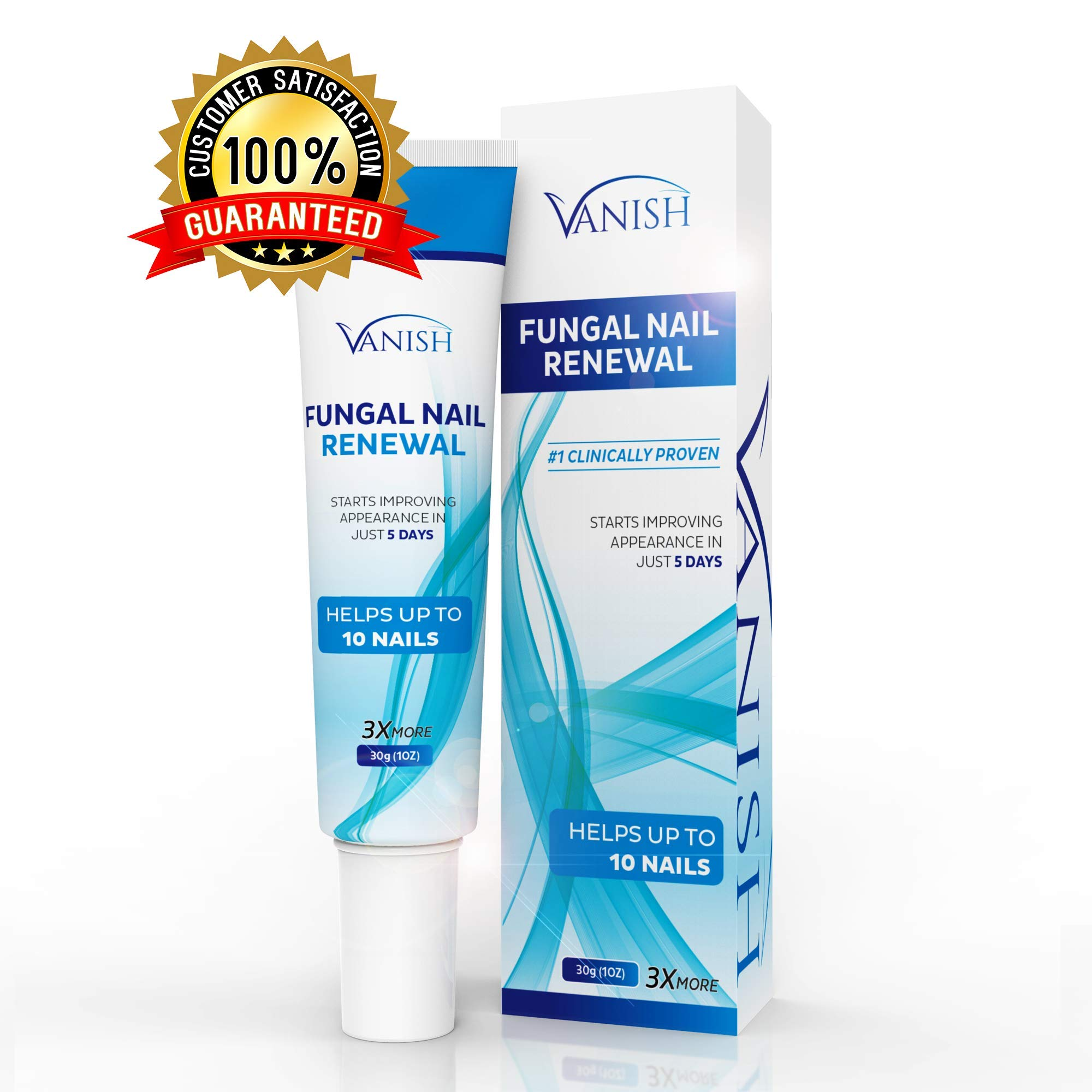 Vanish Fungal Nail Renewal, Nail Fungus Renewal Cream, Effective on Toenail and Fingernail Treatment | 3x more cream, Visible results in 5 days, 30ml | Helpful E-Book Included