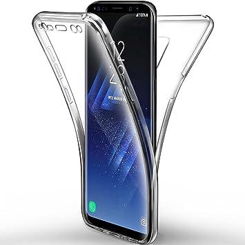 Leathlux Funda de silicona para teléfono Samsung Galaxy S9 Plus, protector de 360 grados, transparente: Amazon.es: Electrónica
