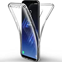 Coque Samsung Galaxy S9 Etui, Leathlux Transparent Silicone Gel Case Intégral 360 Degres Full Body Protection Anti-rayures Coque Housse pour Samsung Galaxy S9