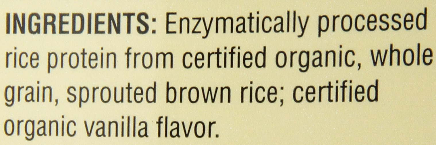 Nutribiotic Organic Rice Protein, Vanilla, 3 Pounds by Nutribiotic (Image #3)