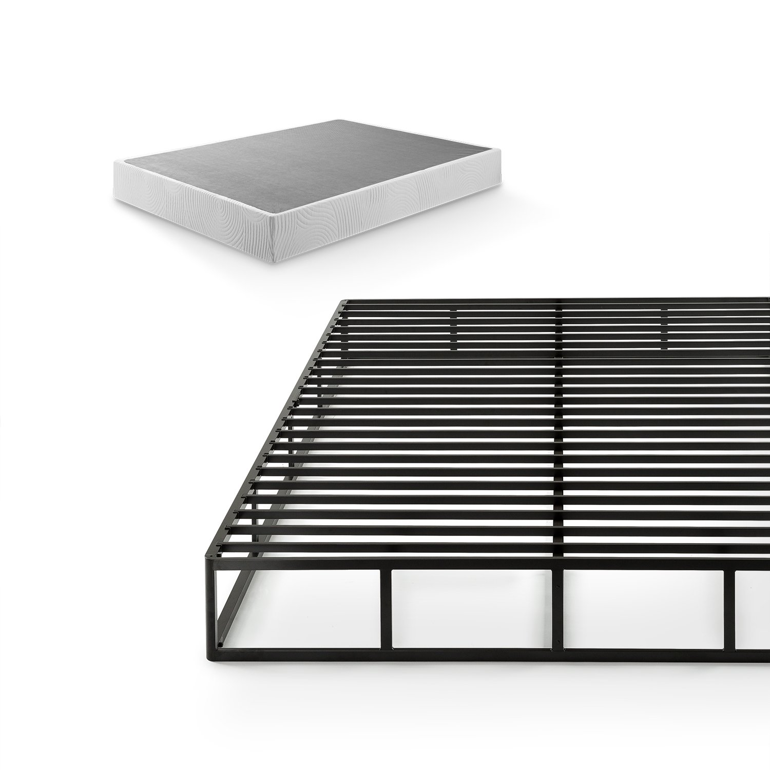 Zinus Victor 9 Inch Quick Lock High Profile Smart Box Spring / Mattress Foundation / Strong Steel Structure / Easy Assembly, King by Zinus