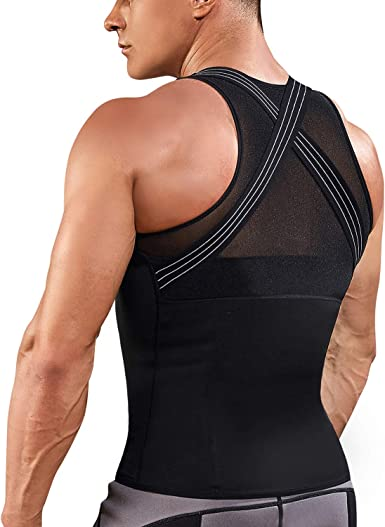 Men Body Slim Tummy Shapewear Body Shaper Underwear TShirt Top Posture Corrector