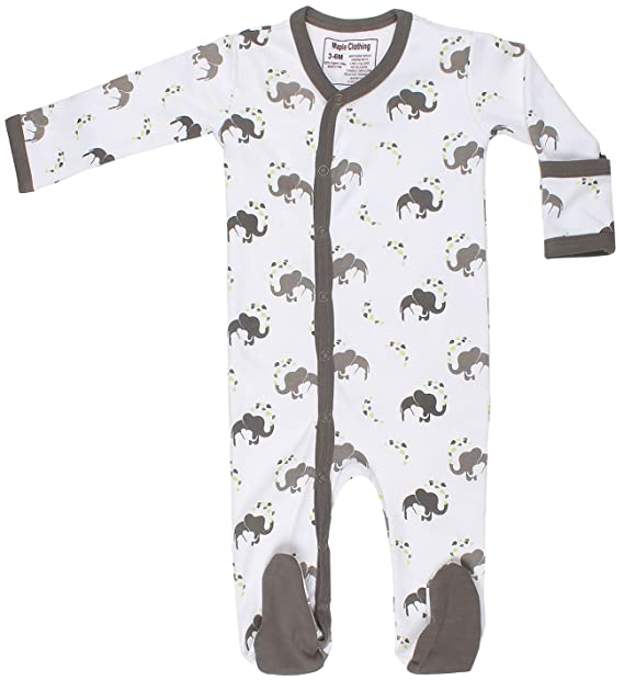 Organic Cotton Baby Clothes Long Sleeve Footie Gots Certified