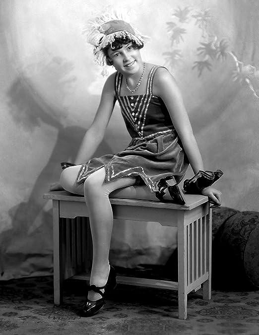 Old Vintage Print photo fashion model  1920s poster for glass frame