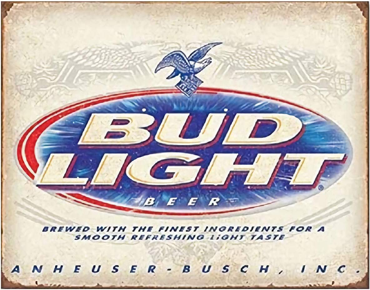 "INGREEN Metal Tin Sign, Funny Vintage Sarcastic Man Cave Signs and Wall Decor Plaque Poster for Cafe Bar Bud Light Beer, 12"" x 8"""