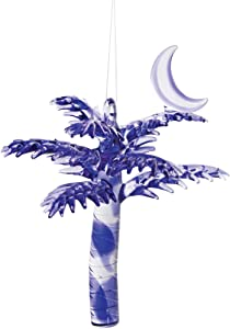 CFF Crescent Moon Palmetto Palm Hanging Christmas Ornament