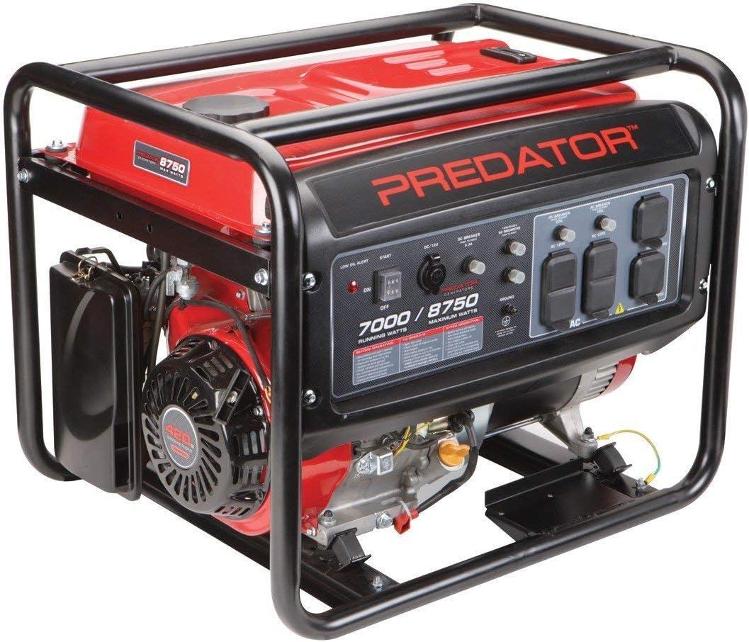8750 Peak 7000 Running Watts, 13 HP 420cc Generator CARB Special
