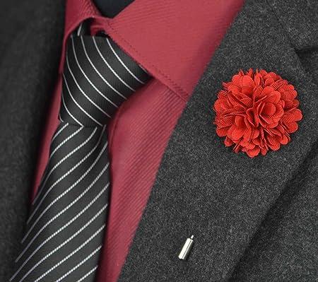 usix 10pc pack-handmade Hombres de la solapa Pin tela flores Decor ...