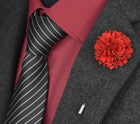 usix 10pc pack-handmade Hombres de la solapa Pin tela flores ...