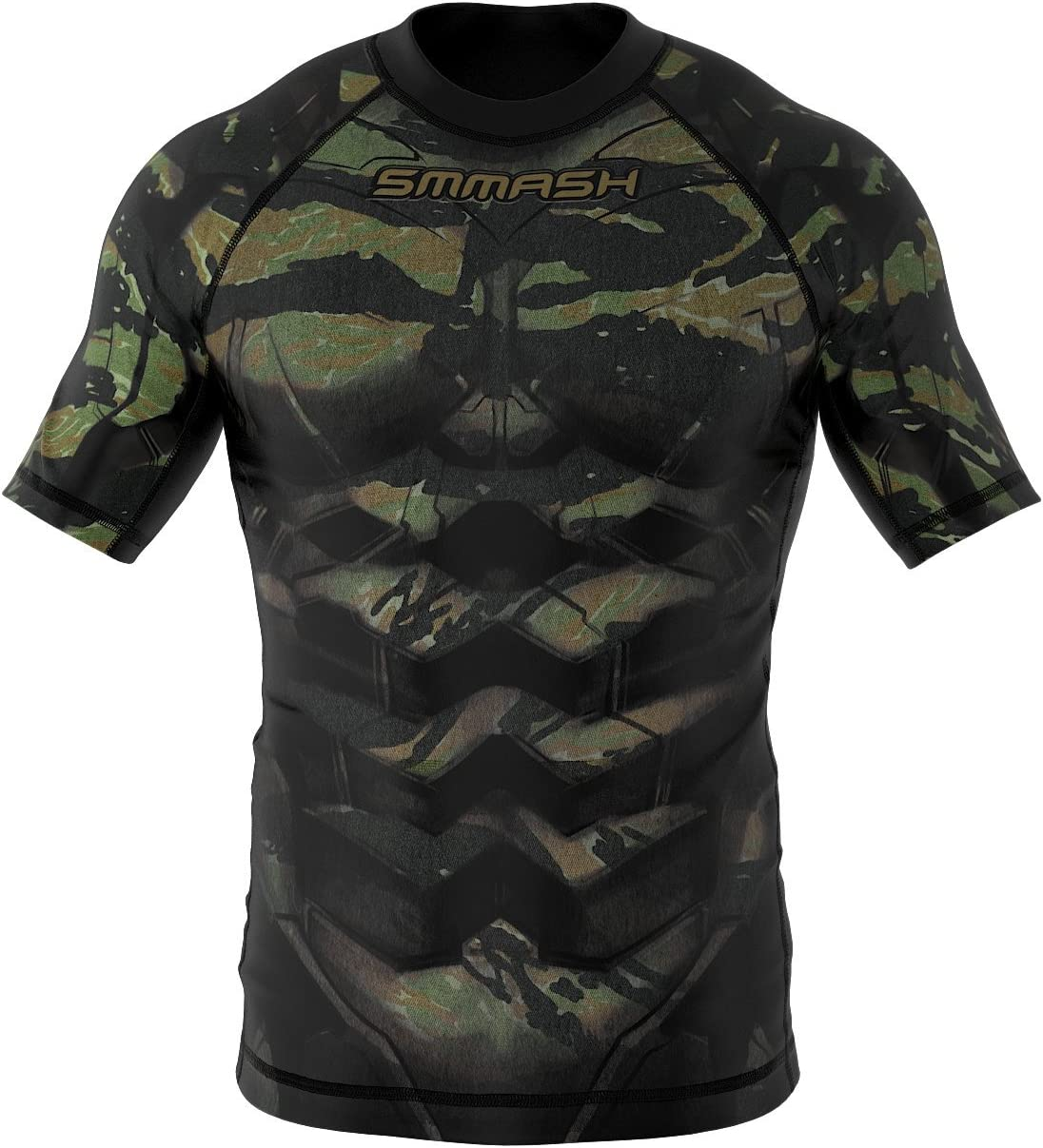SMMASH Rashguard Tiger Armour Manche Courte MMA BJJ UFC K1