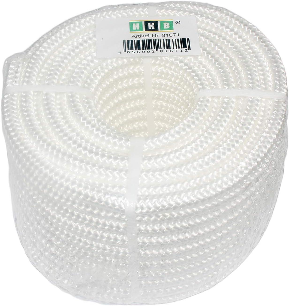 PP cuerda cuerda de polipropileno /Cuerda de polipropileno Blanco amarre cordel trenzado Cordino 16, trenzada HKB/® 20/m x 8/mm/