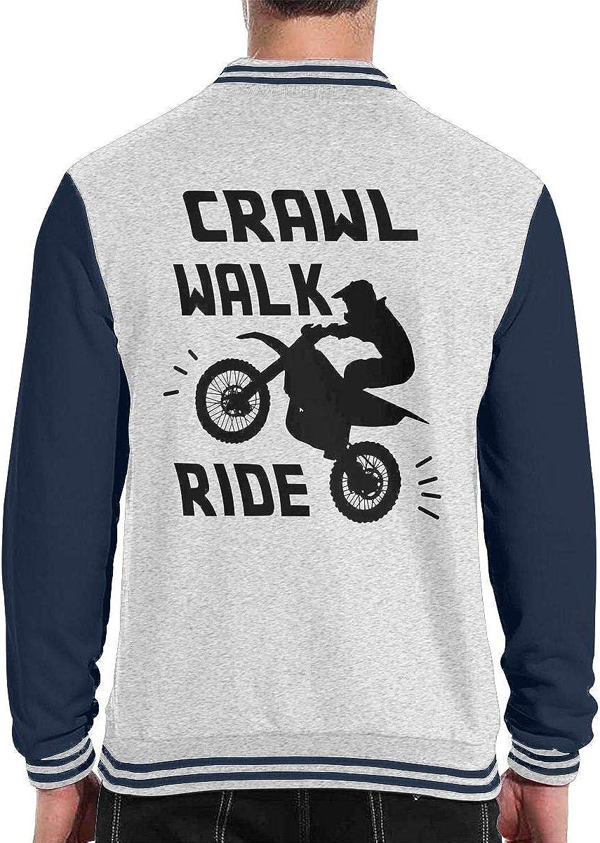 Crawl Walk Ride Motocross Mens Fashion Baseball Uniform Jacket Sport Coat