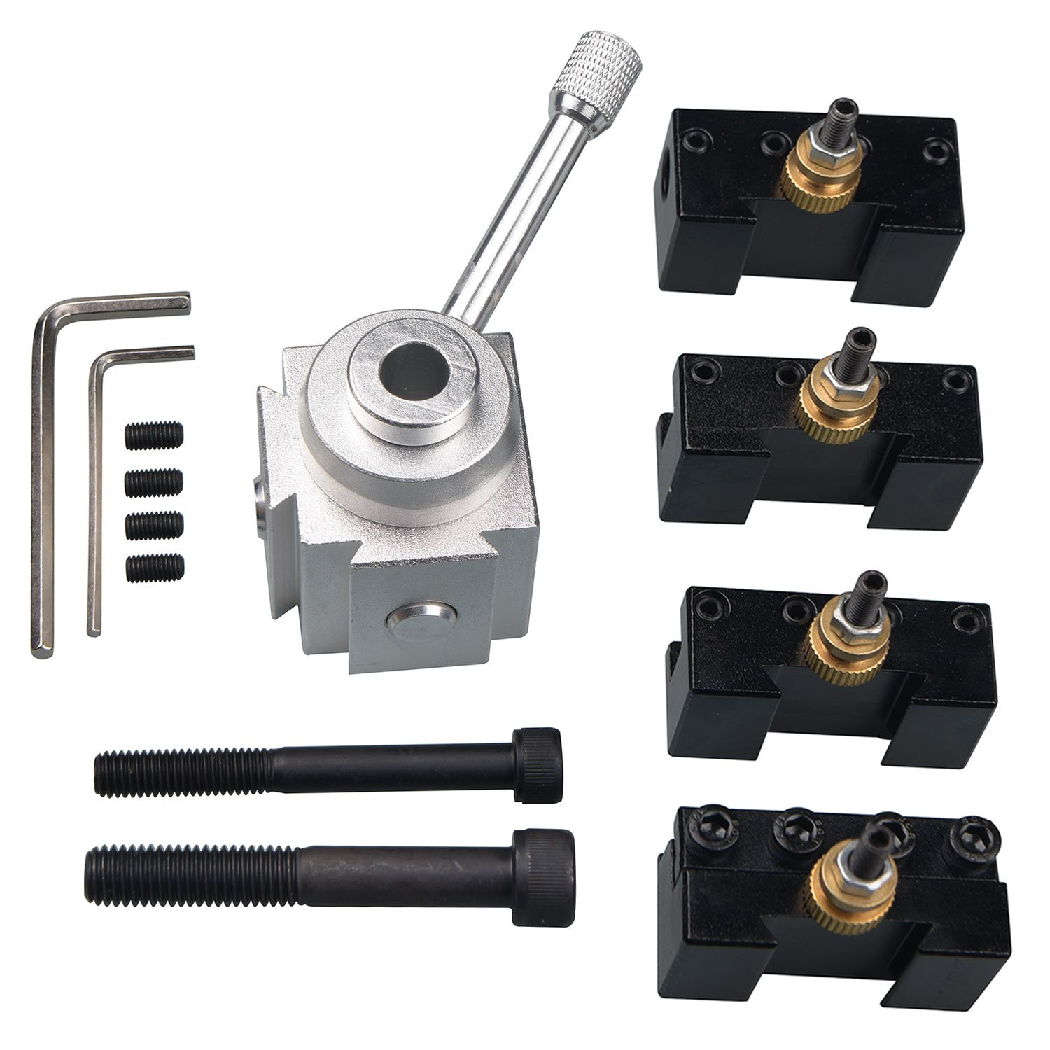 GDHXW H-055 Type Quick Change Tool Post Set For Mini Lathe Steel Mterial