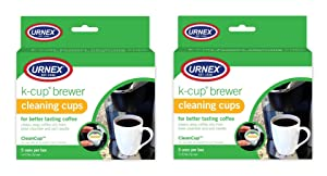 Urnex K-Cup Cleaner - 5 Cleaning Cups - 2 Pack - for Keurig Machines Compatible with Keurig 2.0 - Removes Stains Non-Toxic