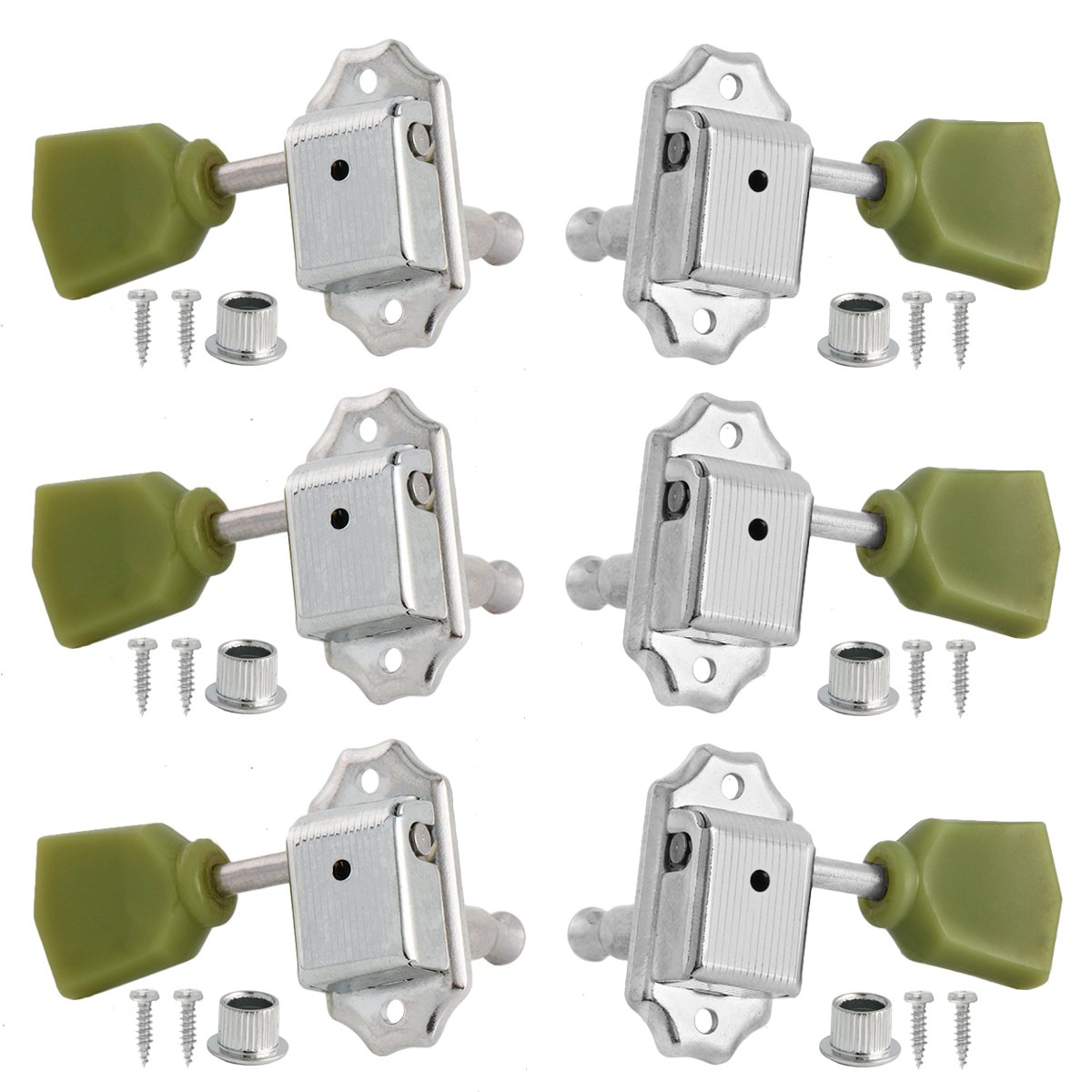 Electric Guitar Vintage Deluxe String Tuning Pegs Keys Tuners Machine Heads For Gibson Les Paul 3x3 Chrome Ltd