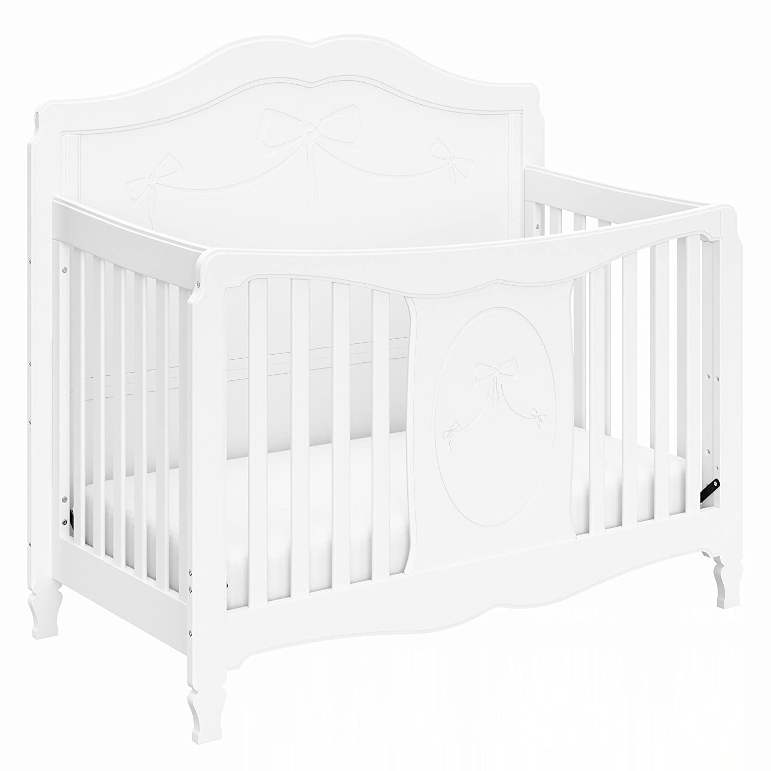 Amazon Com Storkcraft Princess 4 In 1 Fixed Side Convertible Crib