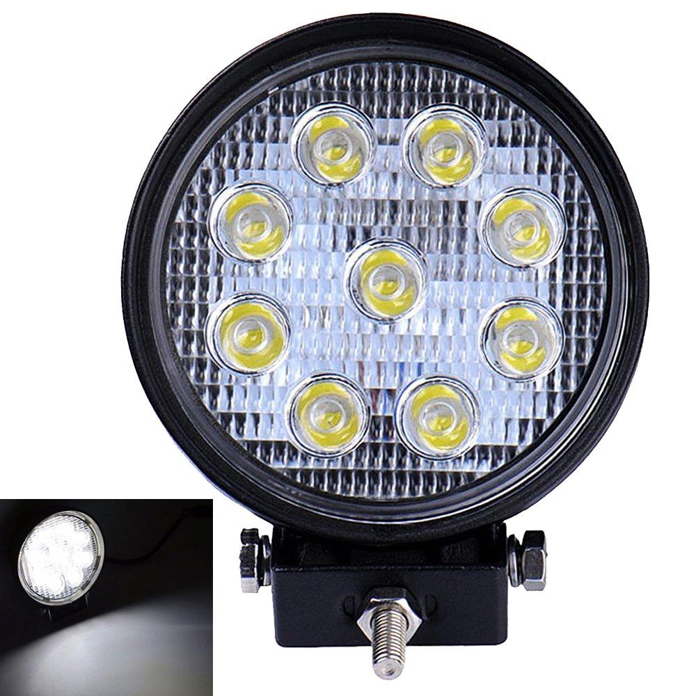 1pcs Kaigeli888 Feux de Jour LED 27W 12V-24V pour Auto Voiture Lampe Etanche IP67 Phare de Travail Lumi/ère Avant Ultra Puissant Eclairage Anti-Brouillard Conduite S/écurit/é Blanc Froid Carr/é