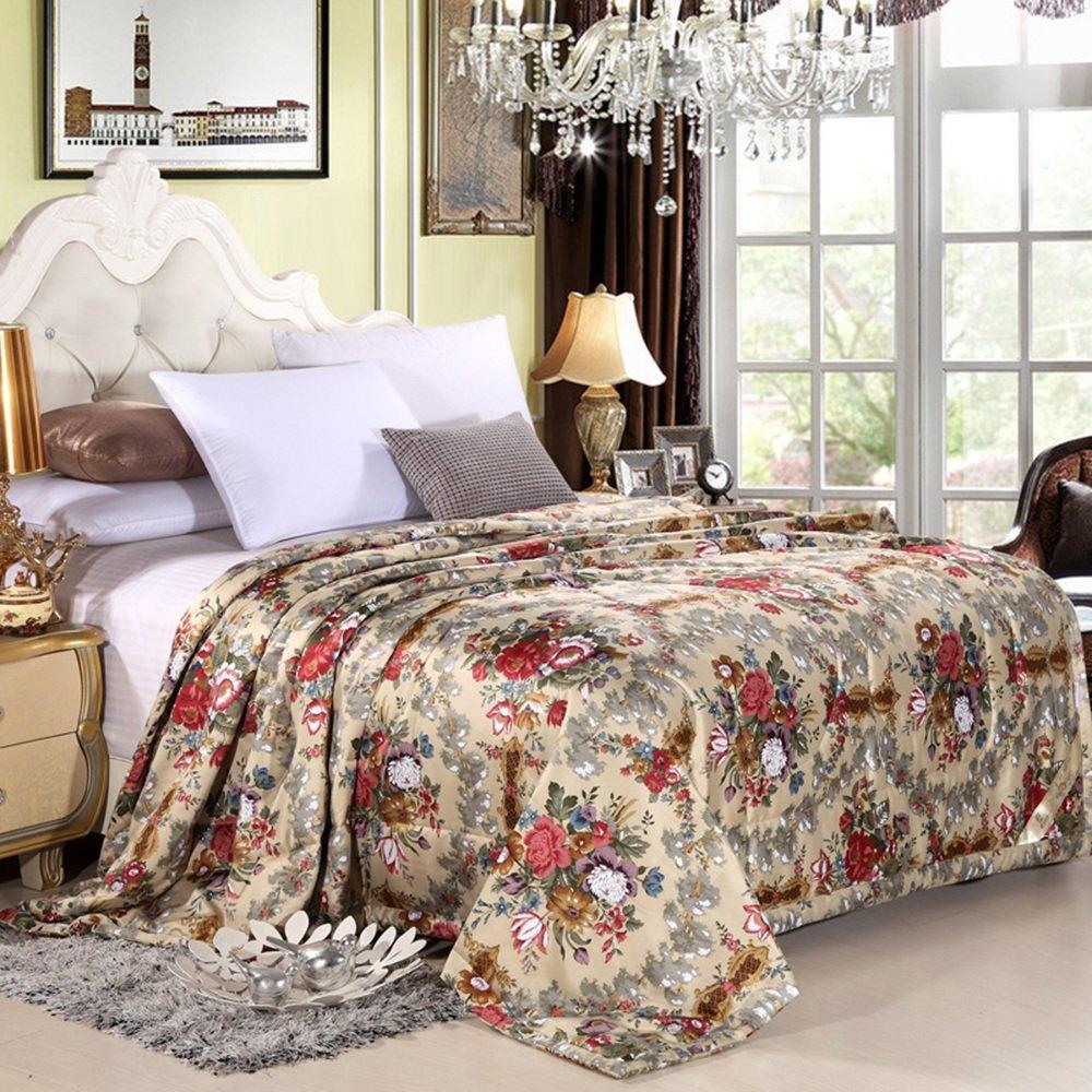 LVZAIXI 寝具の贅沢な綿の印刷ステッチのキルティングベッドカバー印刷手作りの寝具のキルト (色 : 03, サイズ さいず : 150x200cm) B07D717W9K 3 150x200cm