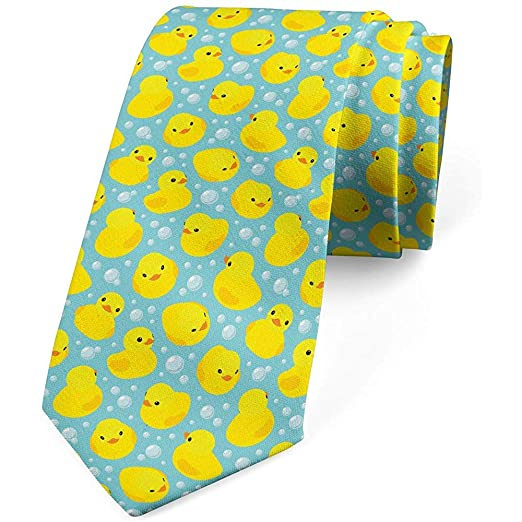 Corbata para hombre, Happy Rubber Duck Bubbles, corbata ...