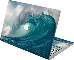 "Cavka Vinyl Decal Skin for Apple MacBook Pro 13"" 2019 15"" 2018 Air 13"" 2020 Retina 2015 Mac 11"" Mac 12"" Ocean Tides Sea Cover Blue Unique Laptop Sticker Design Protective Surfing Print Wave Nature"