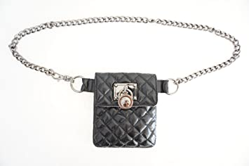 464cf2927820 Image Unavailable. Image not available for. Color: Michael Kors Mk Hamilton  Lock Quilted Fanny Pack ...