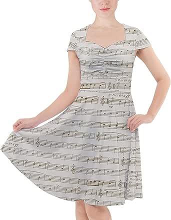 Rainbow Rules Sheet Music Sweetheart Midi Dress