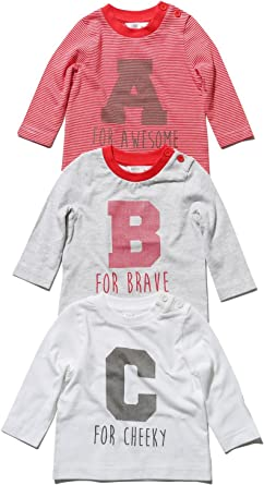 M/&Co Baby Alphabet T-Shirt with Long Sleeves