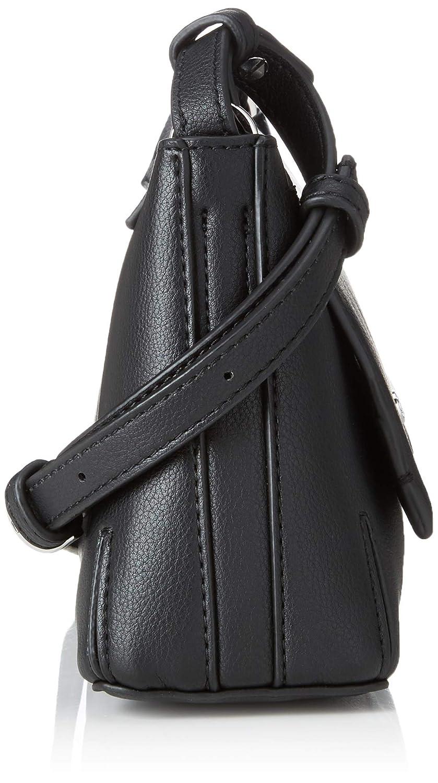Calvin Klein - Stitch Flap Clutch/Crossbody, Bolsos bandolera Mujer, Negro (Black), 8x29x14.5 cm (B x H T): Amazon.es: Zapatos y complementos
