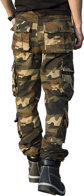 Viaggio di Cotone TAIPOVE Uomo Pantaloni Cargo Pantaloni Tattici MilIT Ari Uomo Pantaloni da Lavoro Uomo per Uso Stagioni Casual Sport