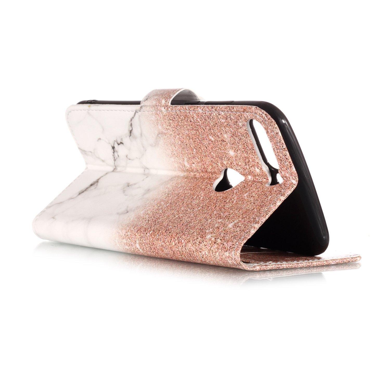 Schutzh/ülle Brieftasche mit Kartenfach Klappbar Magnetverschluss Sto/ßfest Kratzfest Handyh/ülle Case f/ür Huawei Y7 - LOYHU21991#5 Huawei Y7 2018 Lomogo 2018 H/ülle Leder