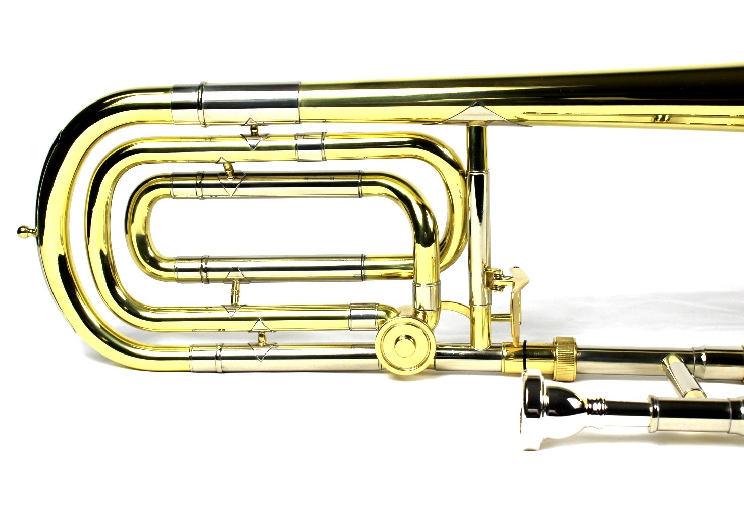 Brand New Bb/F Bass Trombone w/ Case and Mouthpiece- Gold Lacquer Finish by Moz (Image #6)
