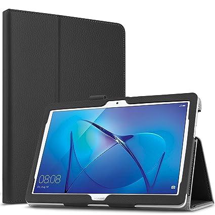 molto carino 8b424 314e5 Infiland Huawei MediaPad T3 10 Custodia, Slim Folio in Pelle Ultra Sottile  e Leggera Custodia per Huawei MediaPad T3 10 Tablet Display da 9.6