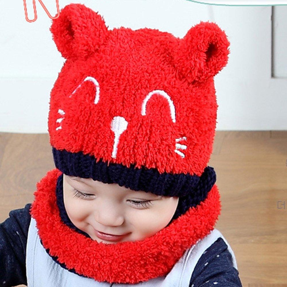 Meiyuan - Gorro de invierno con orejas de gato para bebé 1e5d598bb45