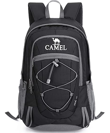 Camel Hiking Backpack 30L Travel Camping Backpack Lightweight Water  Resistant Daypack Outdoor Backpacks for Men and b5f1f4f8fe