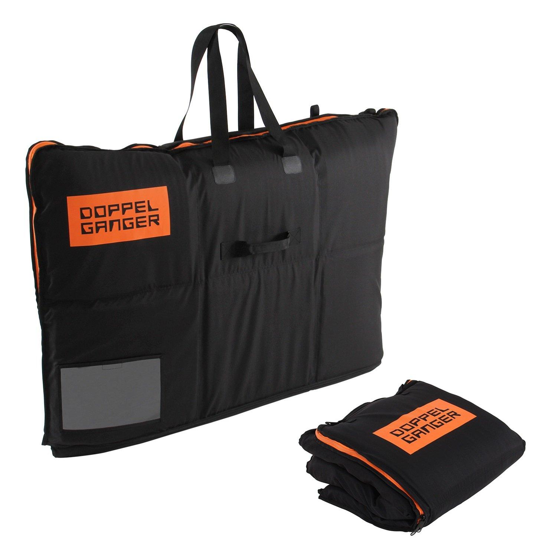 Shock-resistant wheeling carrying bag DOPPELGANGER OUTDOOR (R) Black DCB333-BK