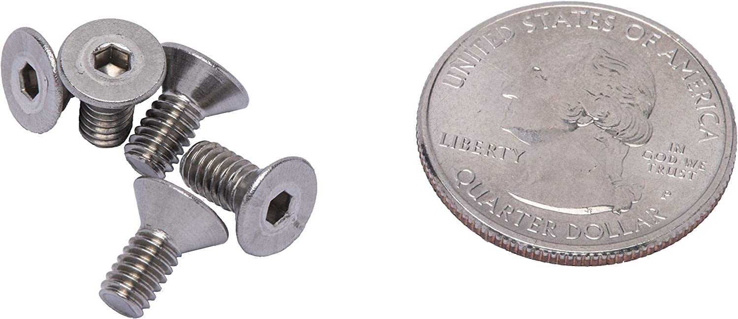 100pc Stainless Steel 18-8 by Bolt Dropper 304 #10-24 X 1-1//4 Stainless Flat Head Socket Cap Screw Bolt,