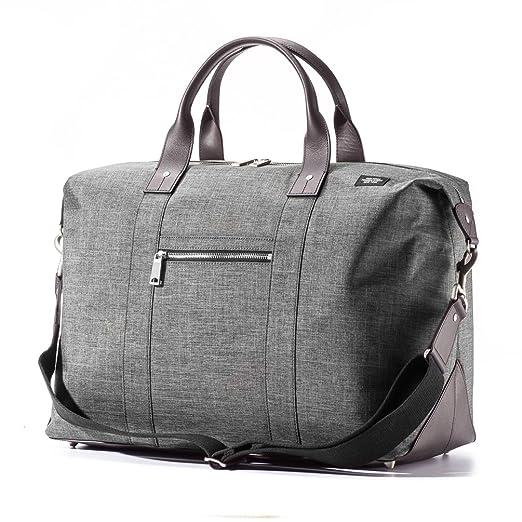 Jack Spade Mens Tech Oxford Wing Duffel Bag - 19.5 Inches, Grey