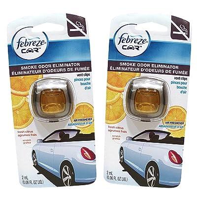 Febreze Car Vent Clips Air Freshener Smoke Odor Eliminator, Citrus Scent 2 Pack: Health & Personal Care [5Bkhe1011363]