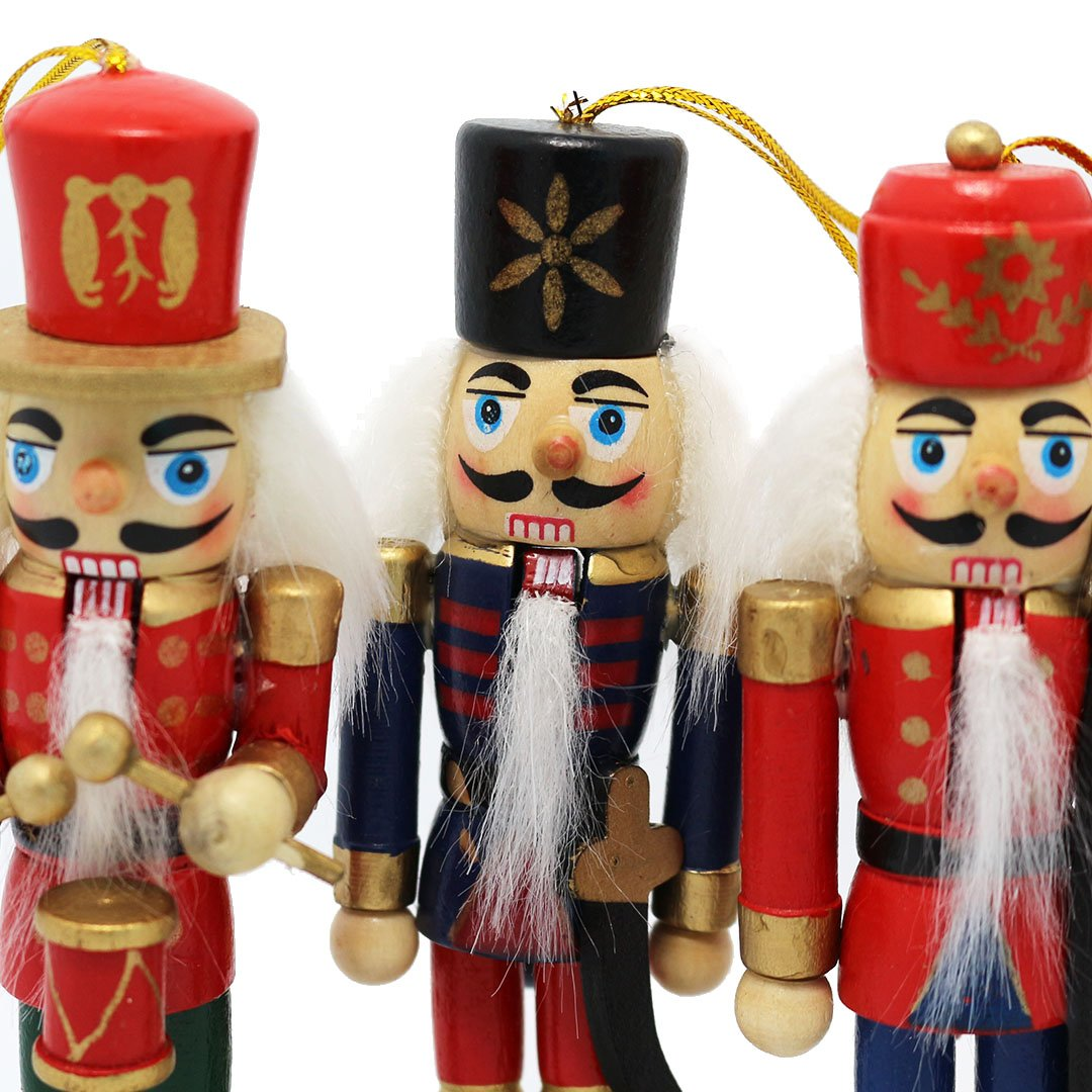 Amazon.com: Naimo Set of 6 Christmas Wooden Nutcracker Soldier With ...