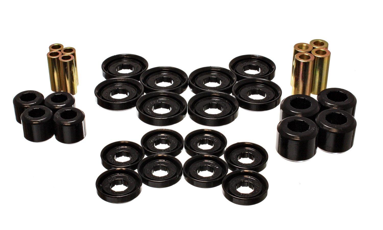 Energy Suspension ENE-5.3142G Control Arm Bushing Set Black Front Performance Polyurethane Control Arm Bushing Set