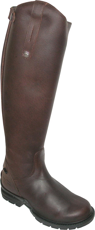 Mark Todd Fleece Lined Tall Winter Boots 890785 Brown