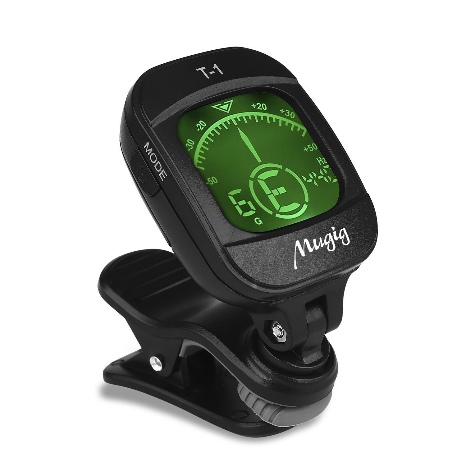 Mugig Guitar Tuner Clip-on with LCD Display, Calibrated Pitch & 360 Degree Rotating, Auto Off Chromatic Tuner for Bass, Violin, Ukulele (Battery Included) t-2