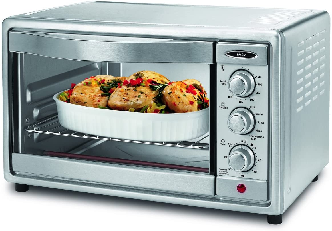 Amazon.com: Oster Convection Toaster Oven, 6 Slice, Brushed Stainless Steel  (TSSTTVRB04): Convection Countertop Ovens: Kitchen & Dining
