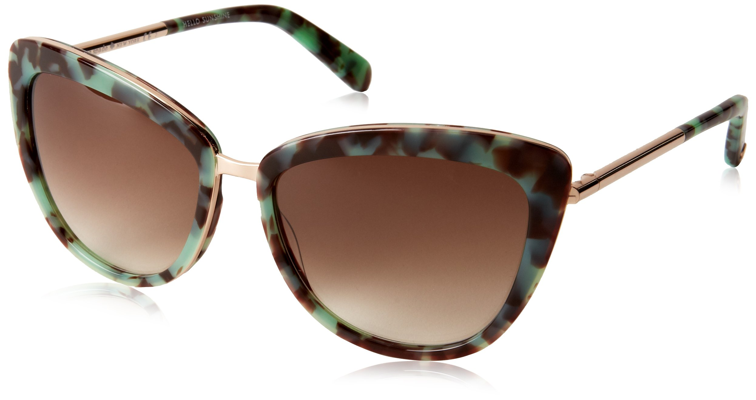 Kate Spade Women's Kandi Cateye Sunglasses, Mint Tortoise & Brown Gradient, 56 mm by Kate Spade New York