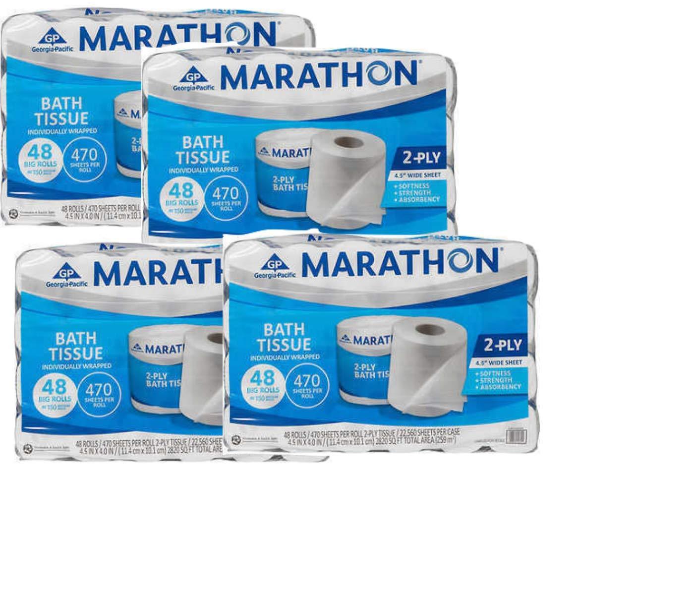 Marathon Embossed Bath Tissue, 48-pack. (pack of 4)
