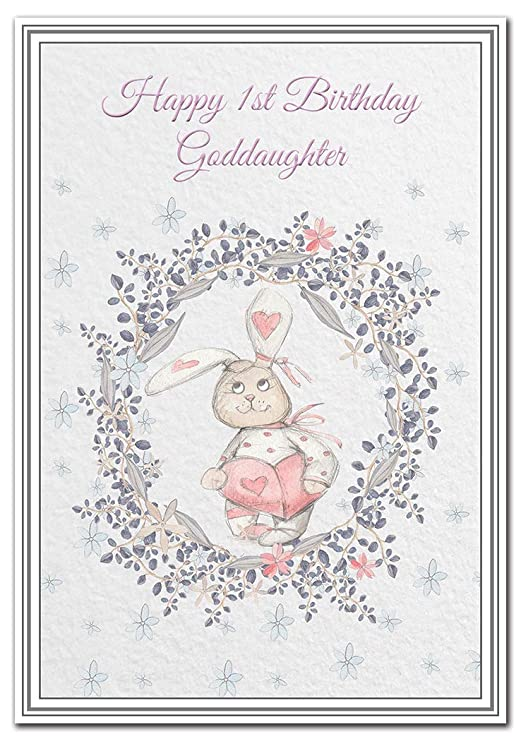 Happy 1st Birthday Granddaughter Card